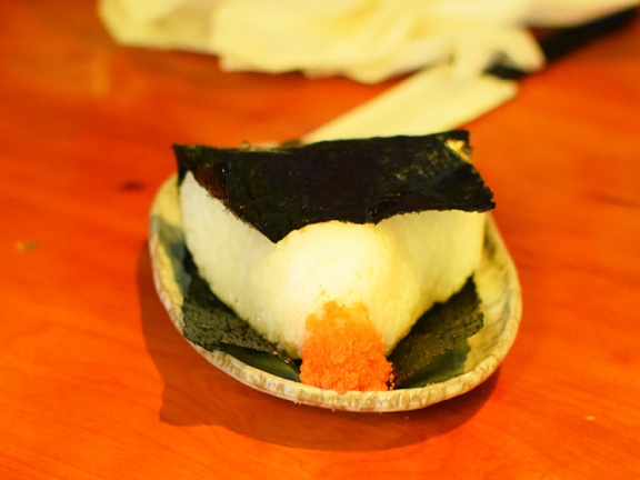 Yakitori Totto, Rice ball with spicy cod roe
