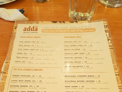 Adda, Starters and Tandoor-related
