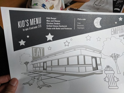 $15 a bit much for a kids' burger with fries? I think so.