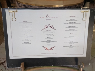 In Bloom 2, Menu