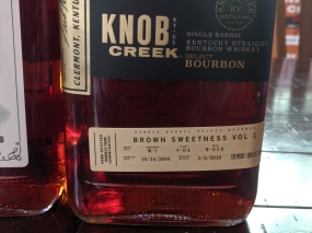 Knob Creek, Brown Sweetness Vol. 1