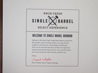 Knob Creek, Welcome