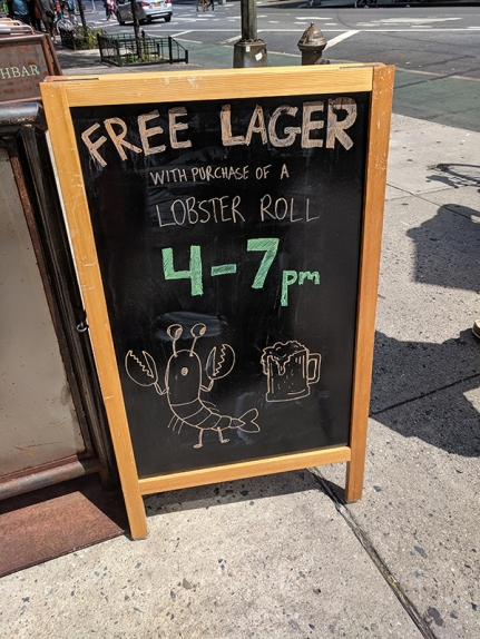 Luke's Lobster, Free Lager