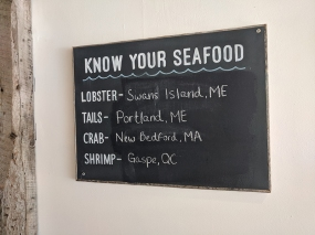 Luke's Lobster, Know Your Seafood