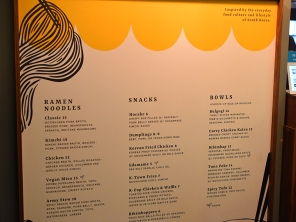 Chelsea Market, Korean Grub, Menu