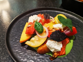 Crown Shy, Tomato, peach, Meredith feta