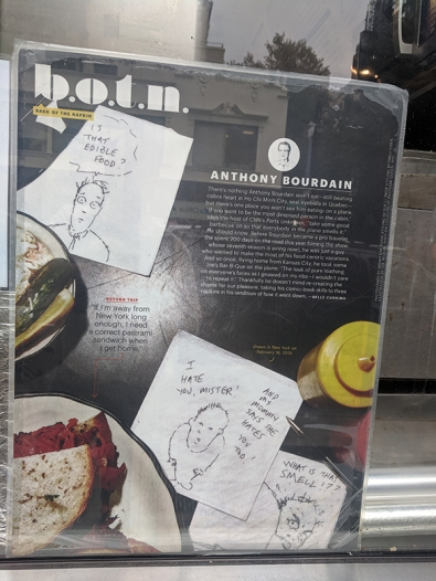 Anthony Bourdain was apparently a big fan.