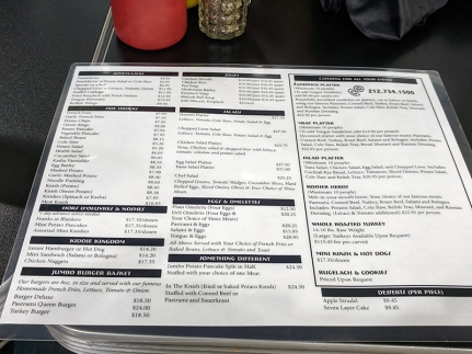Pastrami Queen, Menu2