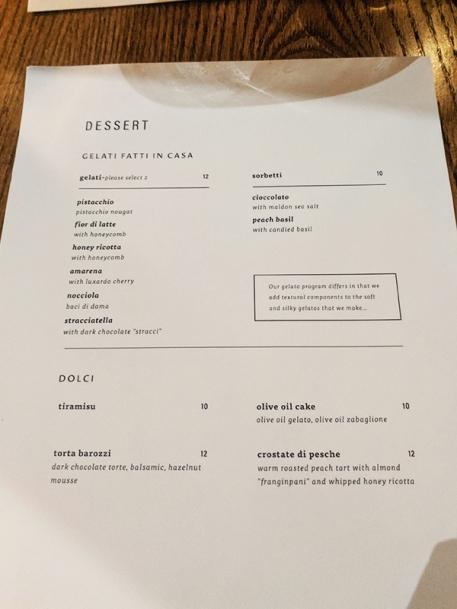 Rezdora, Menu, Dessert