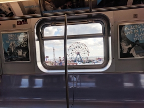 Coney Island, Farewell from the train