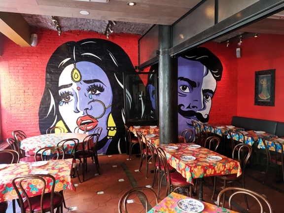 What has become of this ugly mural? Also, why was it considered a good idea to have a large picture of a weeping woman staring at people as they ate?