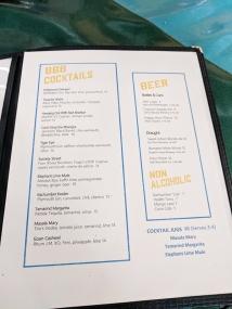 The Bombay Bread Bar, Menu, Cocktails, Beer