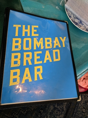 The Bombay Bread Bar, Menu