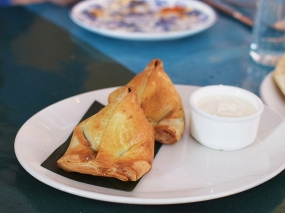 The Bombay Bread Bar, Special goat samosa
