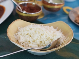 The Bombay Bread Bar, Steamed rice