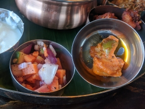 Kumar's Mess, Weekday lunch, Kachumber, pickle