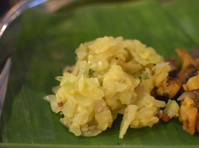 Kumar's Mess, Weekend lunch, Cabbage poriyal