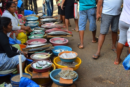 2. Assolna Market, Displaying their wares