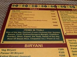 Bagundi 2, Items in thali