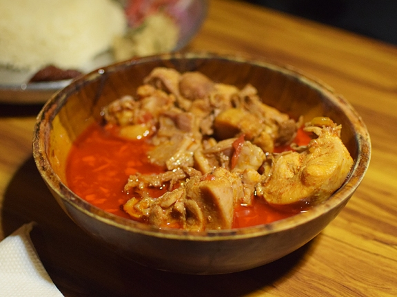 Hornbill, Chicken with bamboo shoot--Chicken Thali