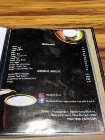 Hornbill, Menu, Beverages