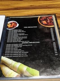 Hornbill, Menu, Pork and Chicken