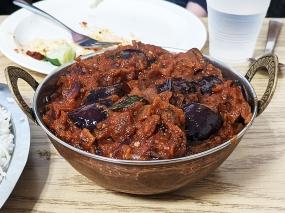 Kabob's, Fried Eggplant Curry