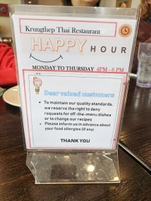 Krungthep Thai, Dear Valued Customers