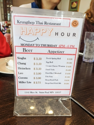 Krungthep Thai, Happy Hour