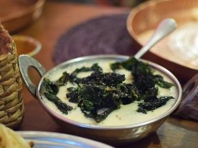 Jamun, Khatti-Mithi Kadhi with Crisp Kale