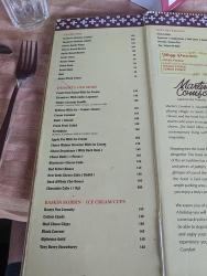 Martin's Corner, Menu, Tandoori, Desserts