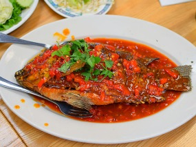 Bangkok Thai Deli 5, Crispy Fish with Tri-Flavour Sauce