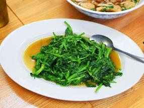 Bangkok Thai Deli 5, Stir-Fried Pea Tips with Garlic Sauce