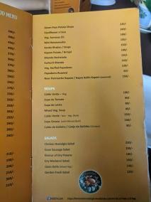 Fernando's Nostalgia, Starters, Veg, Soups, Salads