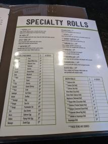 Sakura, Menu, Specialty Rolls