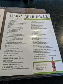 Sakura, Menu, Wild Rolls