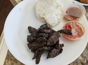 Joy's Thai, Thai Beef Jerky, Sticky Rice