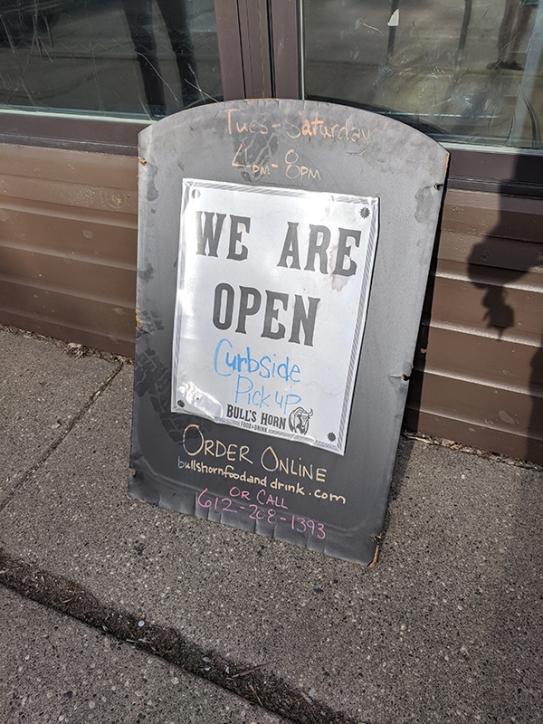 Bull's Horn, We are open
