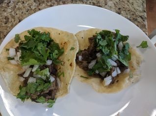 El Triunfo, Carne asada tacos