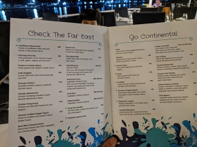 Fisherman's Wharf, Menu, Far East, Continental
