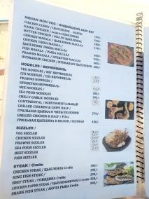 Blue Oasis, Menu, Indian Non-Veg, Noodles, Sizzler, Steak
