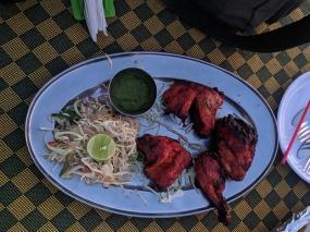 Blue Oasis, More tandoori chicken