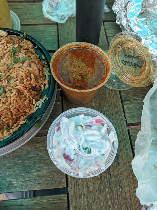 Kumar's, Chicken Salna, Raita