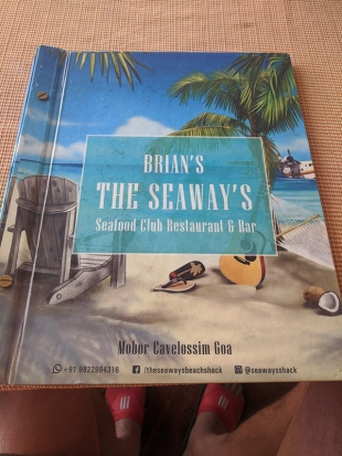 Seaways, Menu