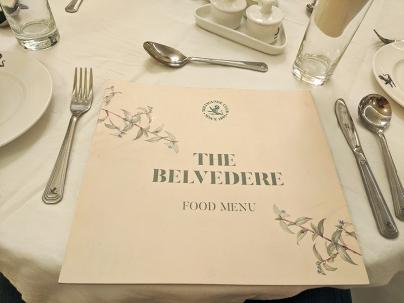 The Belvedere, Menu