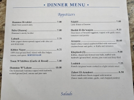 Beirut, Dinner, Appetizers