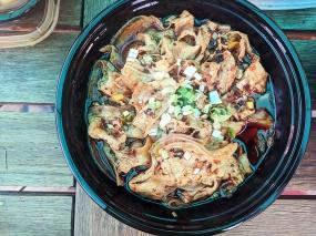 Grand Szechuan, Order 2, Pork belly with mashed garlic