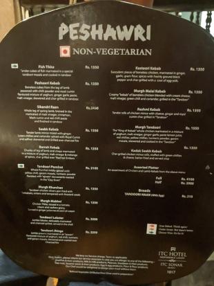 Peshawri, Menu, Non-Vegetarian