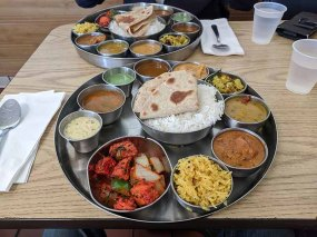 And here's the pre-pandemic thali.