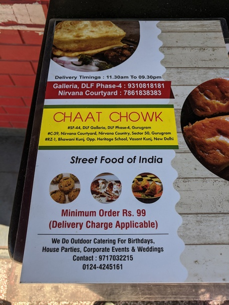 But I couldn't resist nipping around to Chaat Chowk for one more plate.